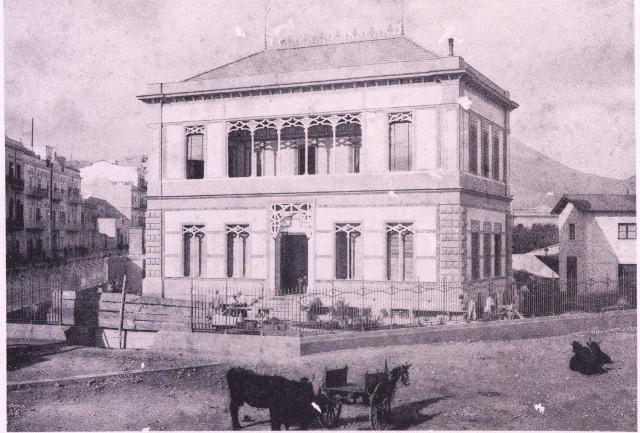 Una foto storica del Villino Favaloro, Palermo