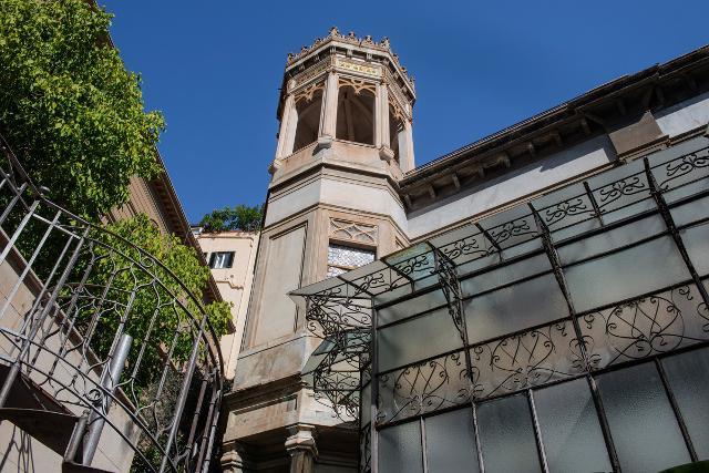 La torretta del Villino Favaloro, Palermo