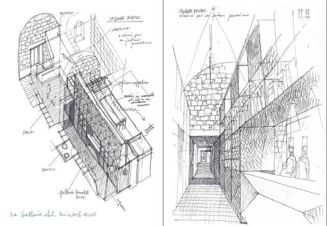 I disegni dell'architetto Fabrizio Foti per i Cantieri Sultano