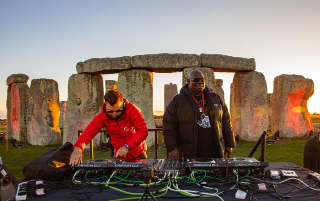 Carl Cox a Stonehenge
