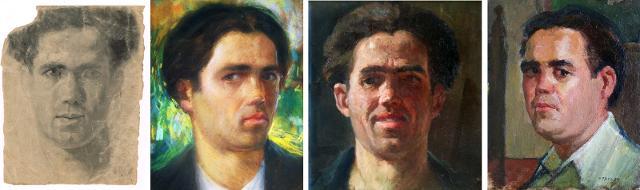 Autoritratti di Francesco Patanè degli anni 20, 30 e 40
