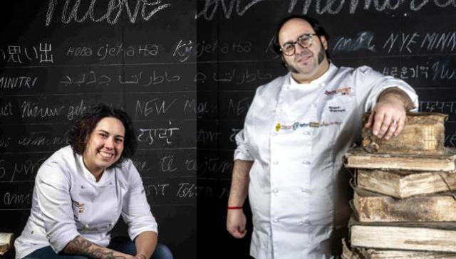 Gli chef Martina Caruso e Gonzalo Luzarraga