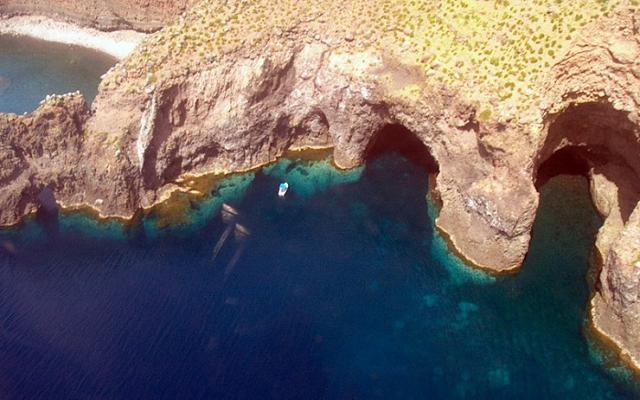 Grotta del Bue Marino dall'alto