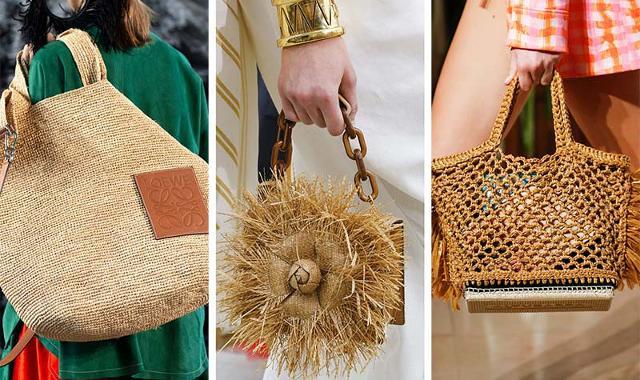 La tendenza estiva newyorkesi per le borse vuole piccole bags con tonalità calde del marrone e materiali naturali come paglia, bambù e legno...