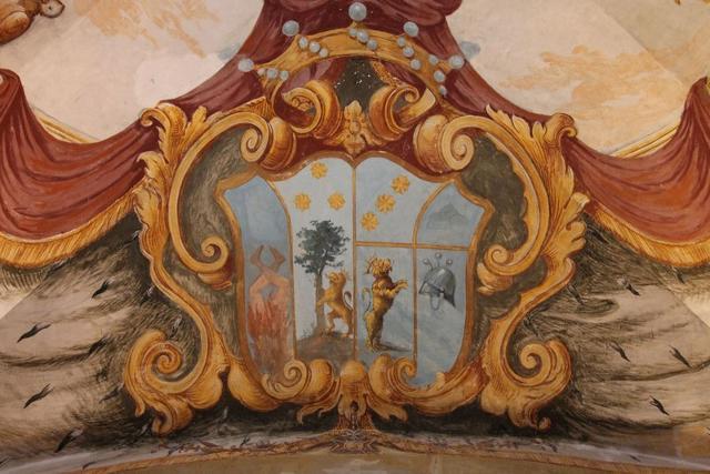 Uno dei tanti fregi affrescati di Villa Adriana - ph www.palermodavedere.it