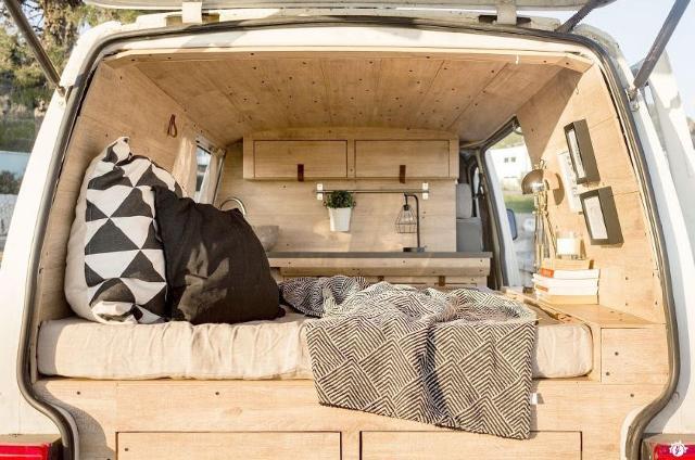 4. Trasformare il furgone in un nido