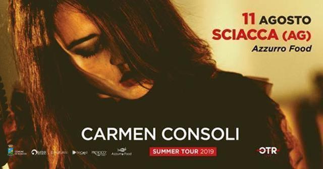 Carmen Consoli - 11 Agosto 2019, Piazza Rossi, Sciacca