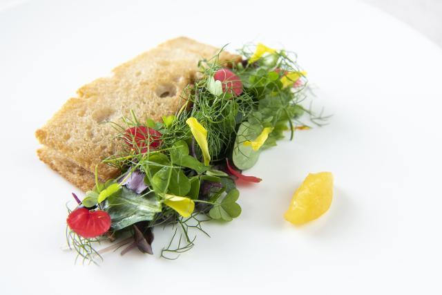 Triglia, pane e aranche che sarà abbinato con lo Shamaris