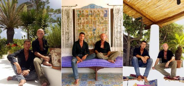 Dolce e Gabbana nella loro villa di Stromboli in alcune foto di qualche anno fa
