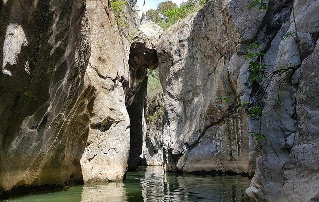 Parte centrale all'interno delle Gole di Tiberio - ph Rosariovecchio89