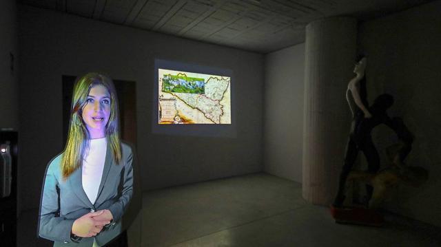 L'hostess virtuale del Museo MAV di Bompietro - ph Igor Petyx