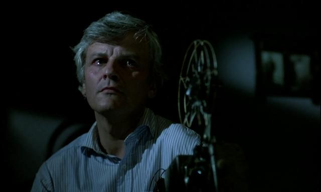 """Jacques Perrin nella sequenza finale di """"Nuovo Cinema Paradiso"""" di Giuseppe Tornatore"""