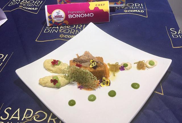 Il piatto dello chef Francesco Bonomo