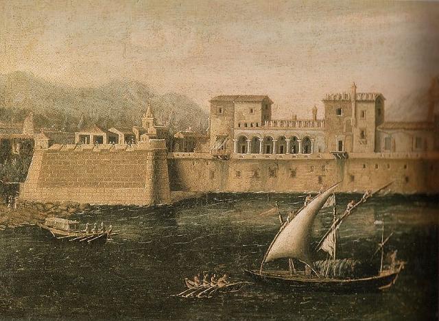 Rappresentazione pittorica del Castello a Mare