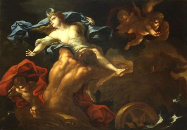 """Il """"Ratto di Proserpina"""" di Giacomo Farelli, Pinacoteca metropolitana di Bari"""