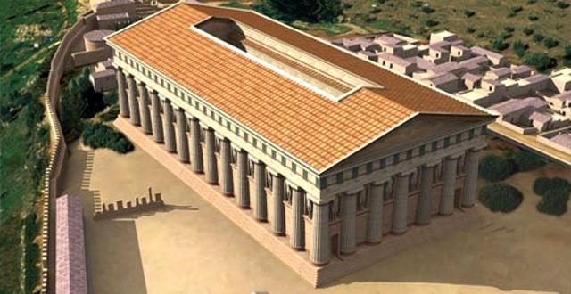 Ricostruzione del tempio di Zeus