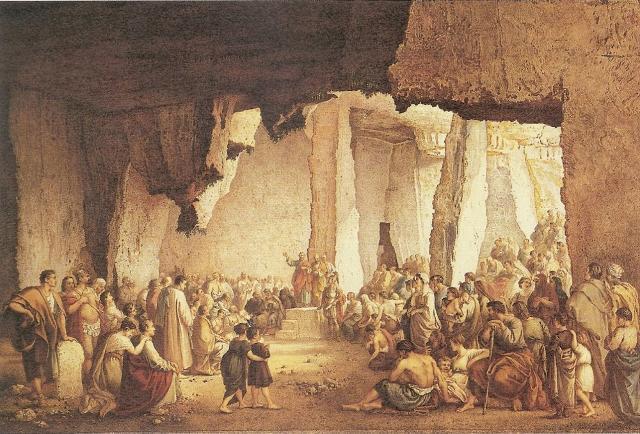 San Paolo predica nelle Latomie di Siracusa - opera di Francesco Paolo Priolo