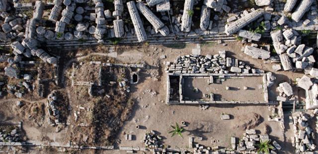 I resti del Tempio R dall'alto