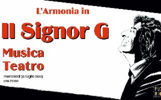 ''Il Signor G'', di Giorgio Gaber