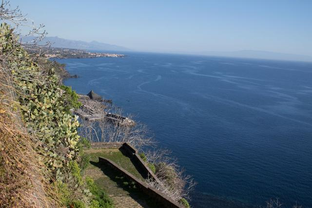 Il mare di Acireale visto dalla Timpa