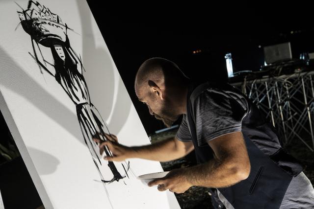Esibizione di Pittura Estemporanea dell'artista Massimo Errera