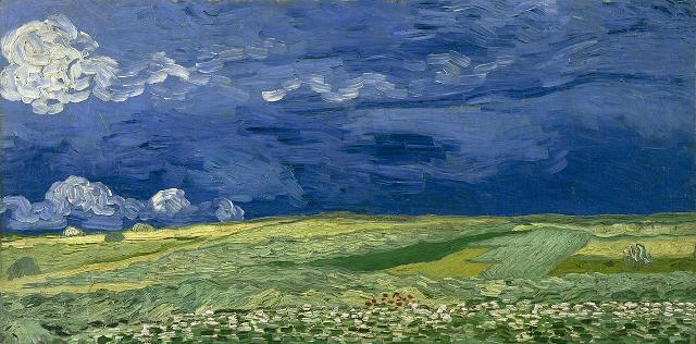 Campo di grano sotto un cielo tempestoso, Vincent van Gogh