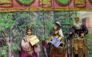 Sicilian Puppets Series - ''Gran combattimento tra Idramoro e Guidone''