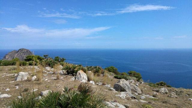 Il mare da Monte Catalfano