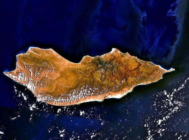 L'isola di Socotra vista dal satellite