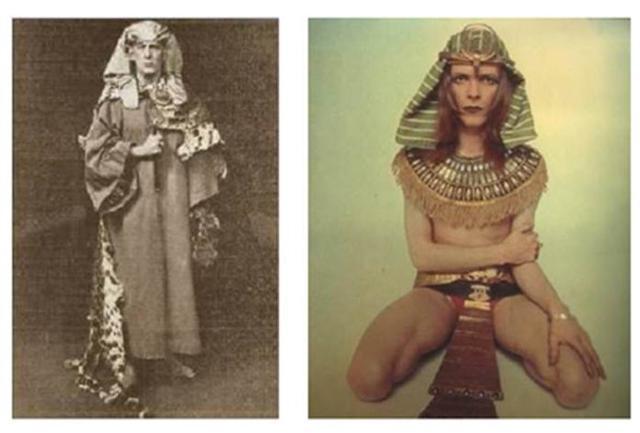 Aleister Crowley e David Bowie versione Faraone