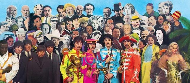 Nell'affollata copertina di Sgt. Pepper's Lonely Hearts Club Band dei Beatles, si può notare Crowley in alto a sinistra