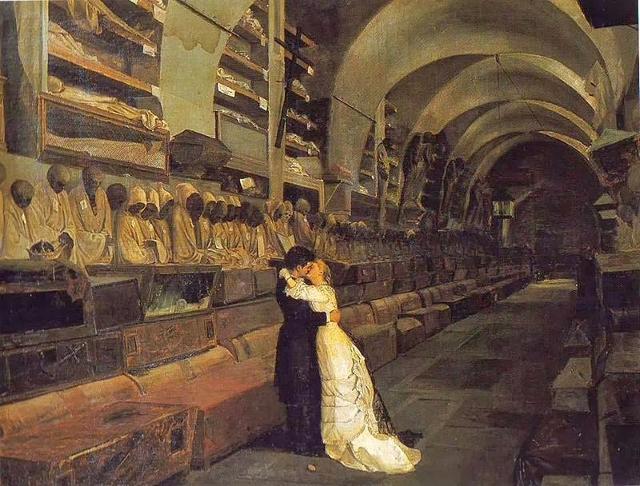 """""""Amore e Morte"""", opera di Calcedonio Reina (1881)"""