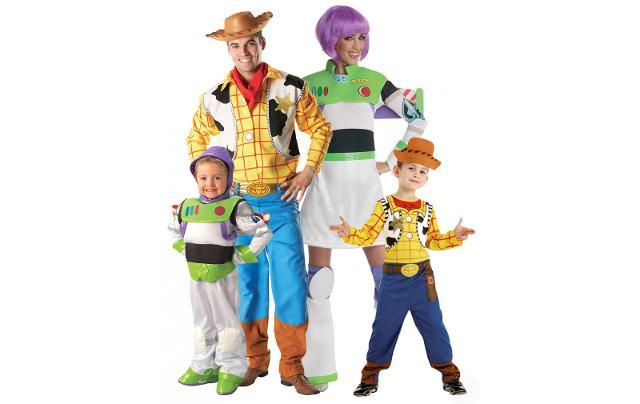 """Toy Story continua a essere in vetta alle classifiche delle ricerche """"costumi per famiglie""""..."""