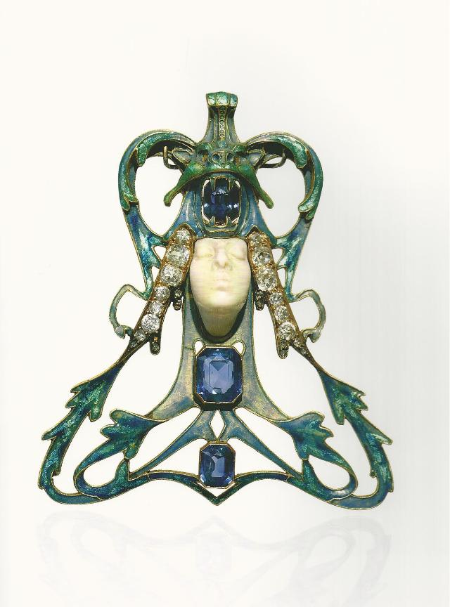 """Pendente """"viso di donna"""" Lalique"""