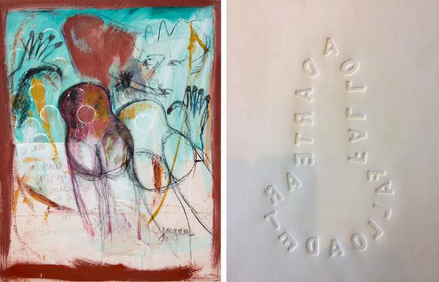"""Da sinistra: """"Culi e chitarre"""" di Angelo Belvedere e """"Fallo"""" di Calogero Barba"""