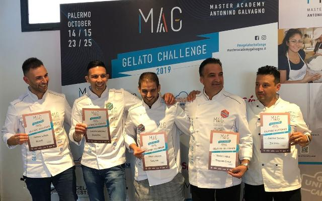 I cinque Maestri Gelatieri che si sono guadagnati la qualificazione per la finale nazionale