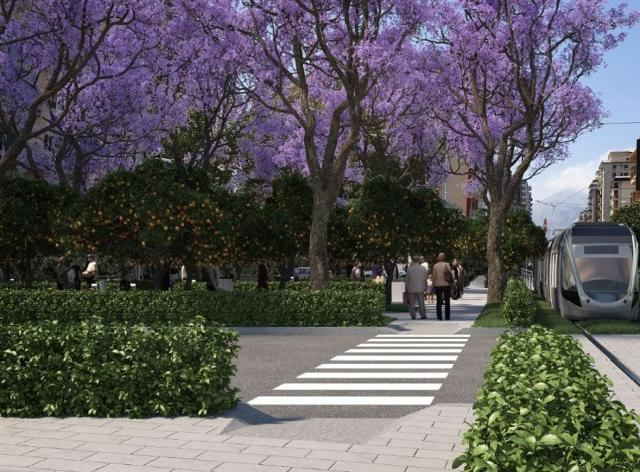 Rendering nuove linee tram a Palermo