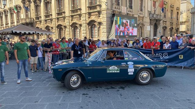 Raid dell'Etna 2019, l'arrivo a Catania