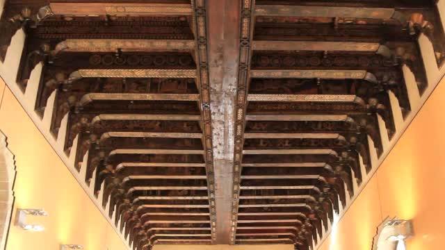 Il tetto ligneo della Sala dei Baroni di Palazzo Steri
