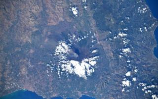 ''L'Etna in eruzione''... visto dallo spazio