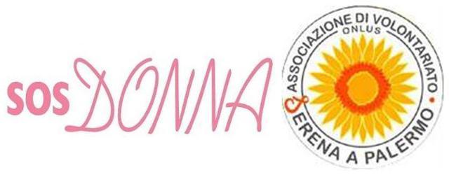 """I loghi delle associazioni """"SOS Donna"""" e """"Serena a Palermo"""""""