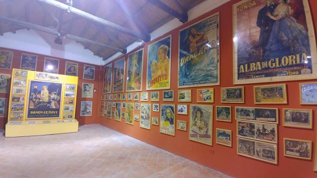 La sezione del Museo Guttuso dedicato ai manifesti cinematografici