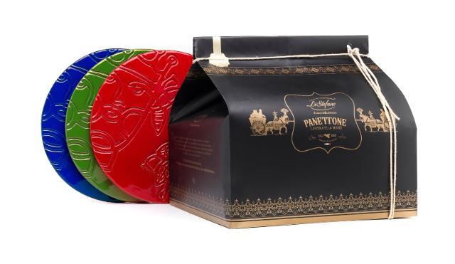 Le tre versioni del piatto cadeau di Domenico Pellegrino e un Panettone Di Stefano formato Magnum