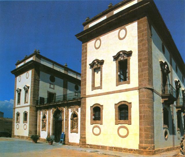 Palazzo Aragona-Cutò in una vecchia foto