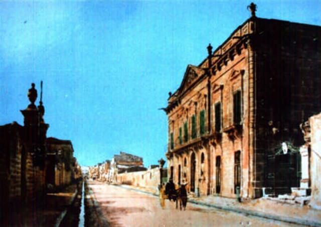 Una foto storica di Villa Galletti Inguaggiato