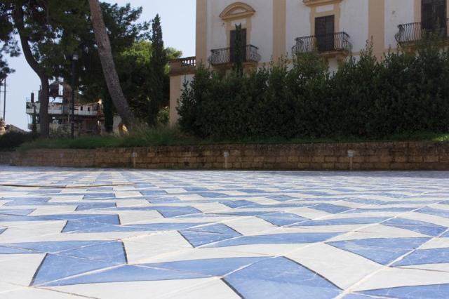 Pavimentazione esterna di Villa Cattolica