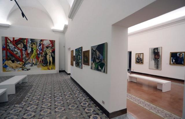 Una sala del Museo Guttuso a Villa Cattolica