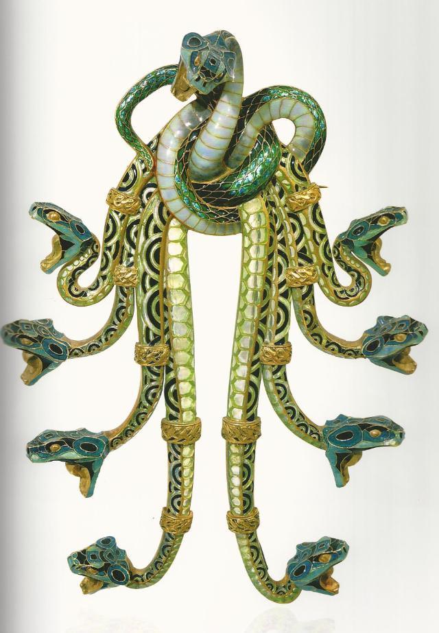 """Spilla """"serpenti"""" Lalique"""