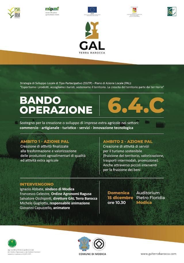 GAL Terra Barocca - Bando Operazione 6.4.C