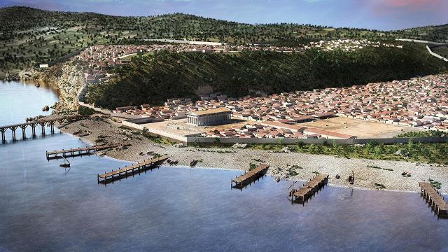 Ricostruzione della cittadella di Himera e del suo porto